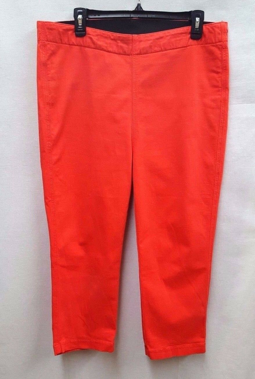 MiracleBody Women's Elastic Waist Jeggings, Coral, 16