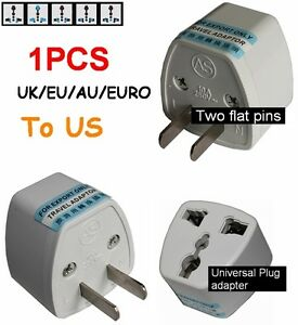 uk eu europe au to us usa united states ac power plug. Black Bedroom Furniture Sets. Home Design Ideas