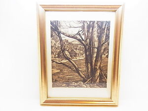 Beautiful Etching Tree Rhythm Luigi Lucioni 1900-1988 USA Autographed Rarely