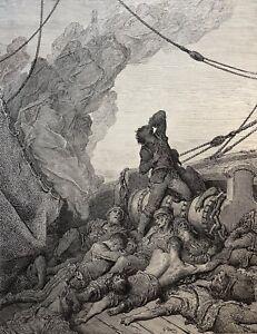 Constructif Gustave Doré Anciens Marins 1876 Xix ème Marine Marin Seul Survivant Le Plus Grand Confort