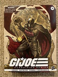 G.I. Joe Classified Snake Supreme Cobra Commander Hasbro Pulse New