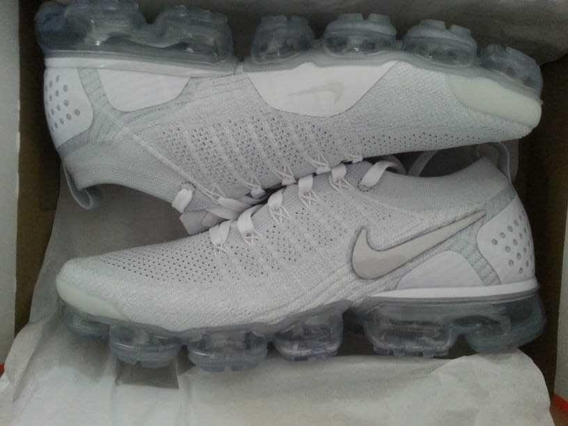 Nike AIR VAPORMAX Gr.45,5 FLYKNIT 2 Gr.45,5 VAPORMAX Weiß a01464