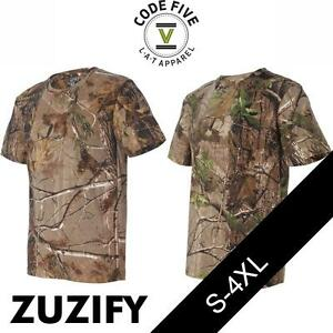 c81f2812 Image is loading Code-V-RealTree-Camo-Short-Sleeve-T-Shirt-