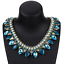 Ladies-Fashion-Crystal-Pendant-Choker-Chain-Statement-Chain-Bib-Necklace-Jewelry thumbnail 23