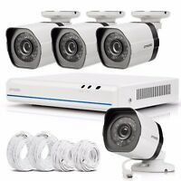 Zmodo 4CH 1080p Simplified PoE NVR 720p Security Camera System