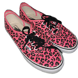 Vans Authentic Pink Cheetah Print Slip
