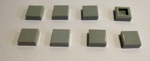 8 x LEGO® 3070 Systemstein,Fliese in 1x1 Farbe neuhellgrau Neuware
