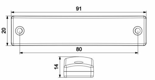 2x 6 Led Truck Side Marker Indicator Light Lamp 12v Red E certified high Quality