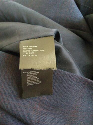 Brand Tyra lana Designer Gonna Taglia Lunghezza al ginocchio 12 New quadri a Reiss di zxqqIFTw