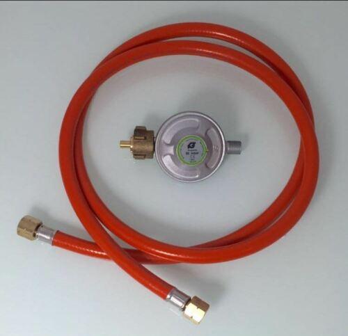 Gasschlauch mit Druckminderer 50mbar Set Gas Schlauch NEU