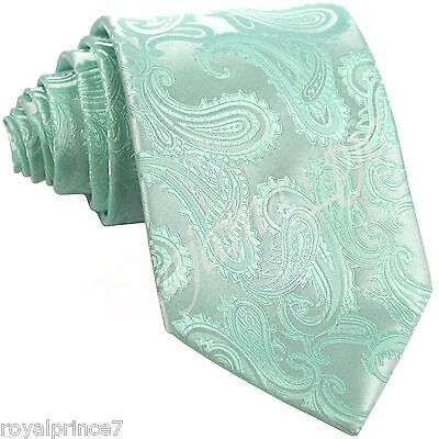 New Men/'s Formal Microfiber Self tie Neck tie Paisley Wedding Party Royal Blue