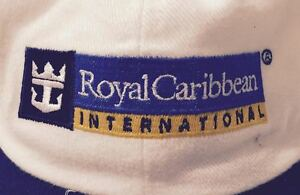 VINTAGE-90-039-S-034-ROYAL-CARIBBEAN-034-HAT-PRE-OWNED-WHITE-UNISEX-ADJUSTABLE