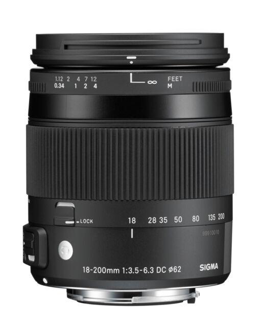 Sigma 18-200 mm F3,5-6,3 DC Macro HSM [C] para Sony A-Mount NUEVO