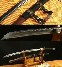 "41""DAMASCUS FOLDED STEEL CLAY TEMPERED HANDMADE JAPANESE SAMURAI KATANA SWORD"