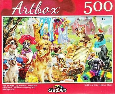 Pets on Wash Day by Adrian Chasterman 500 Pieces Jigsaw Puzzle