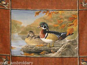 Duck-Bird-Animals-cotton-pillow-or-large-panel-fabric-Choose-design