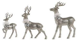 The Holiday Aisle 3 Piece Desmond Plastic Glitter Reindeers Set