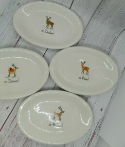 Rae-Dunn-Christmas-Reindeer-Dancer-Prancer-Vixen-Dasher-Oval-Snack-Plates-2017