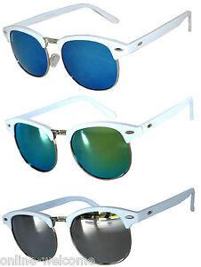Set of 3 Half Frame Semi Rimless Horn Rim Sunglasses Rimmed 2 Leopard 1 Black
