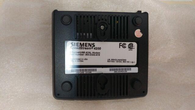 Siemens SpeedStream 4200  Wired Router (060-d242-a16)