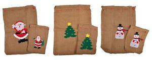Present-Sack-2er-Set-Gunnysack-Santa-Claus-Sack-Gift-Bag-Gift-Packaging