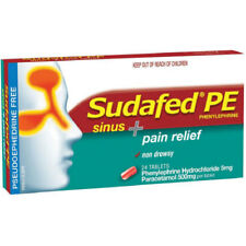 item 2 * SUDAFED PE SINUS + PAIN RELIEF 24 TABLETS HEADACHE BLOCKED RUNNY  NOSE -* SUDAFED PE SINUS + PAIN RELIEF 24 TABLETS HEADACHE BLOCKED RUNNY  NOSE