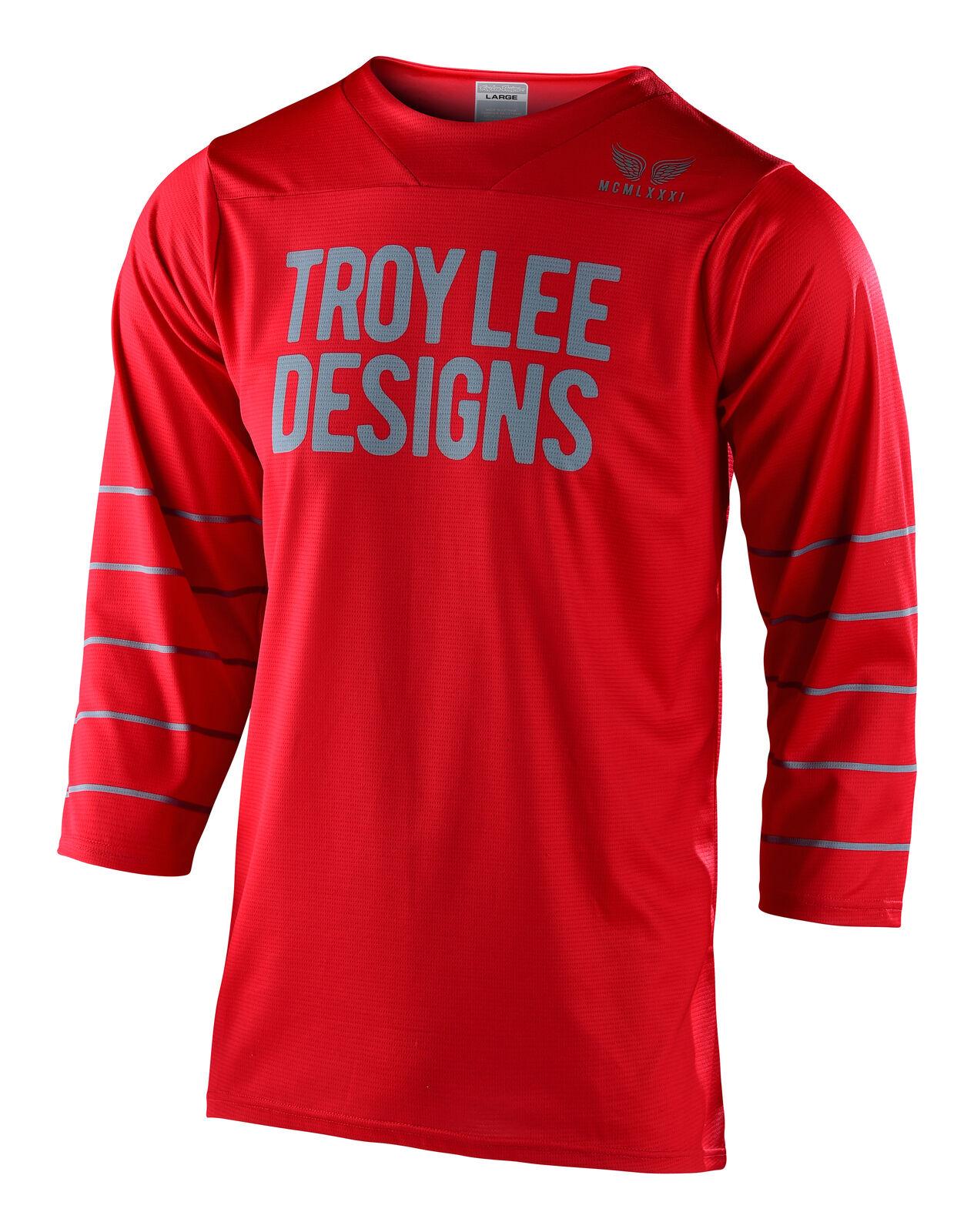 Troy Lee Designs TLD Men/'s MTB Cycling Ruckus Jersey SRAM Black//Red Medium NEW