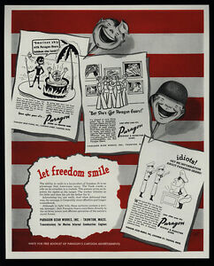 1944 PARAGON Gears - Nazi - Native Boils Jap - Nude Pin Up
