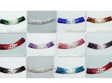 25pcs/lot 45mm mixed gradual change clay bracelet tube crystal shamballa beads