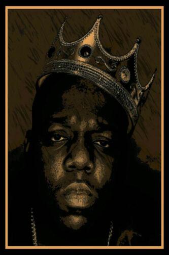 B191 Notorious B.I.G Biggie Smalls  Rap Hip Hop Poster Canvas print custom 24x36