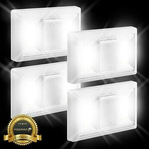 4-Pack-COB-LED-Magnetic-Light-Battery-Inspection-Work-Light-Under-Cabinet-Closet