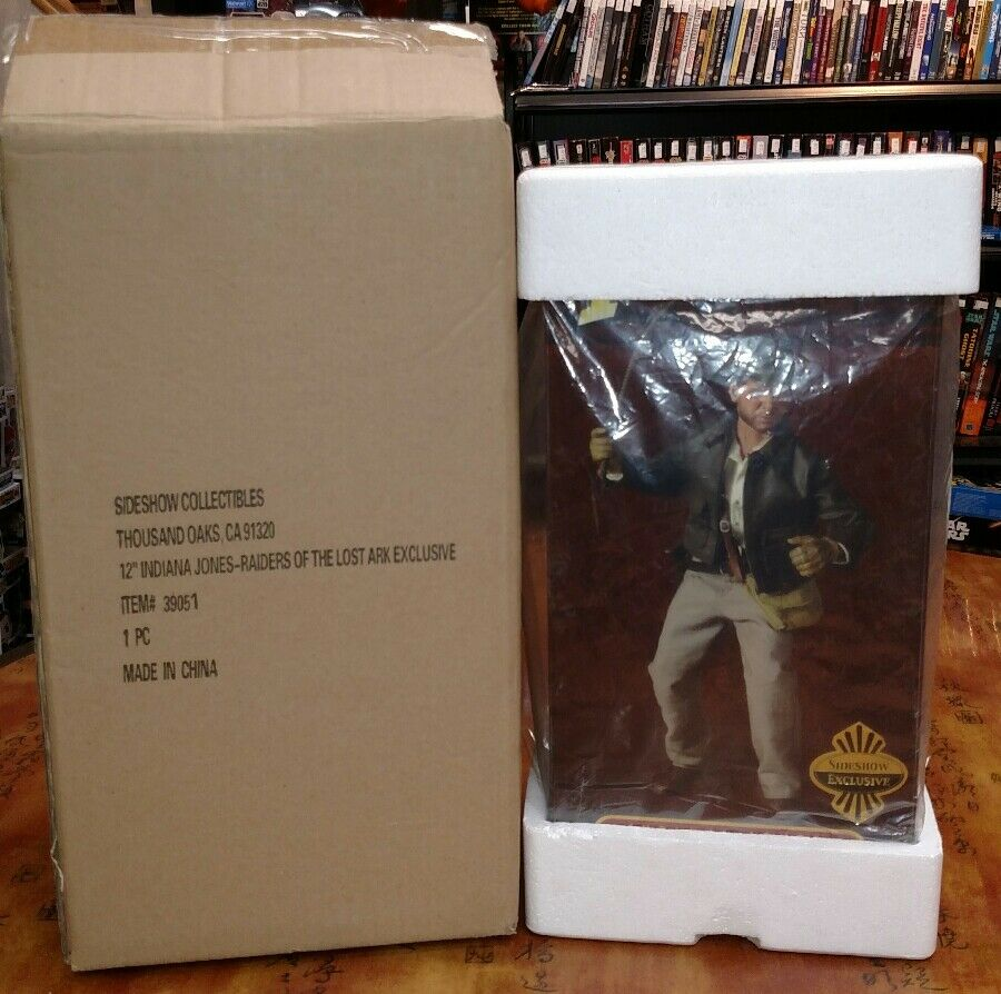 SIDESHOW EXCLUSIVE 12  INDIANA JONES RAIDERS OF THE LOST ARK  39051 NEW SHIP BOX