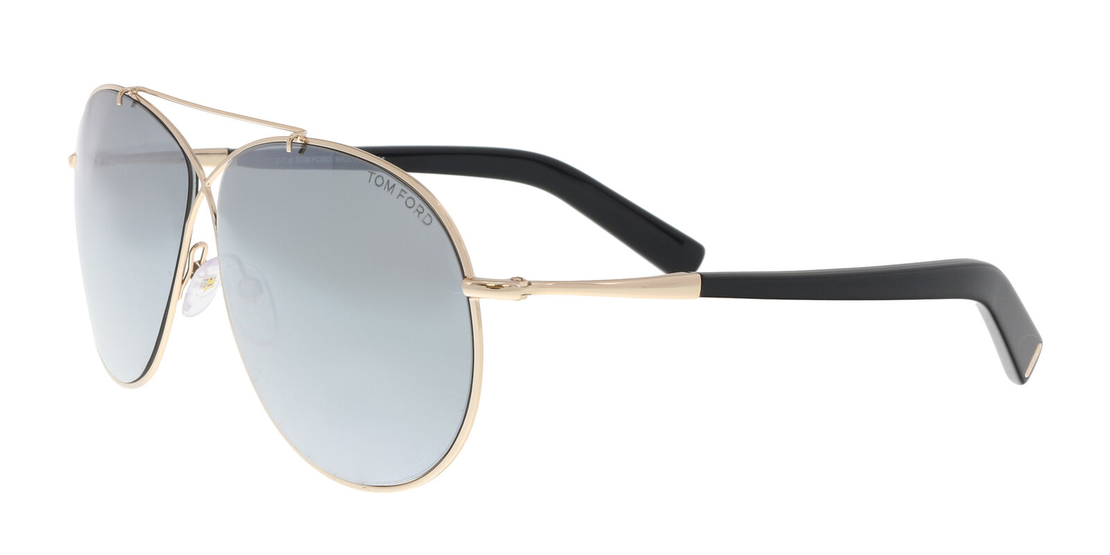 7f1fa45d03d Tom Ford Eva Aviator Sunglasses in Shiny Rose Gold Green Mirror ...