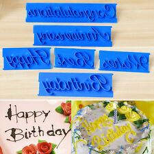 6PCS Alphabet Letter Fondant Cake Decorating Icing Cutter Mould Sugarcraft Bake