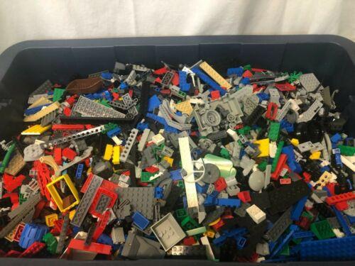3 Pound Bricks And Assorted Lego and 5 Minifigures LEGO 3 lb Bulk Lot