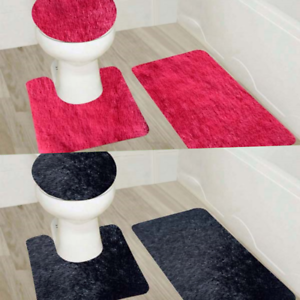 Terrific Details About 3Pc Bathroom Set Bath Rug Contour Mat Toilet Lid Cover Solid Colors Soft Shaggy Gmtry Best Dining Table And Chair Ideas Images Gmtryco