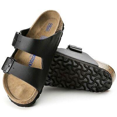 Birkenstock Arizona Weichbettung Sandalen schmal schwarz Pantoletten 551253 NEU | eBay