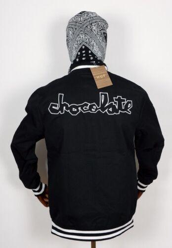 S Bomber College Worldwide Cioccolato Jacke pezzo in Jacket nero Huf vF6Bwz