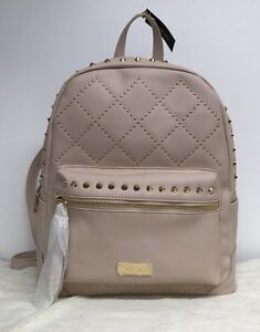 54ac351d62d New Bebe Joan Stones Large Backpack Blush Pink Quilted Studded Purse ...