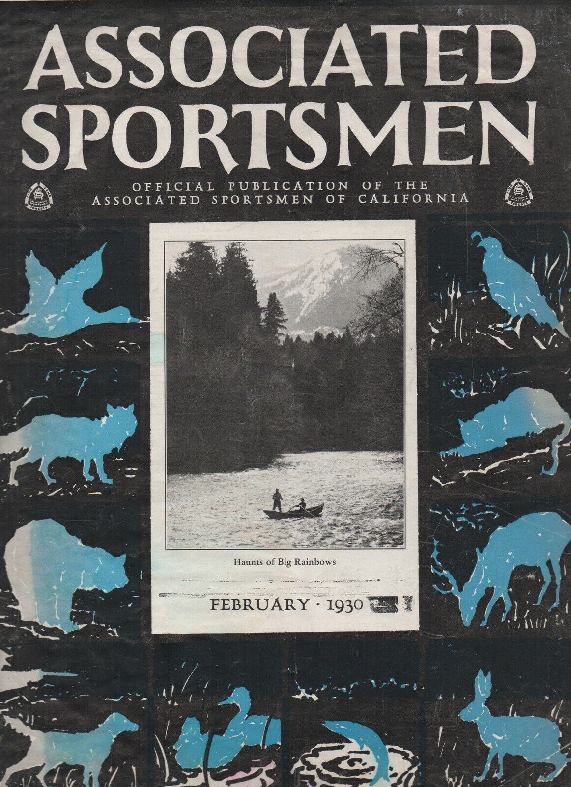 1930 Issue of the Associated Sportsman Magazine of California w  Fishing