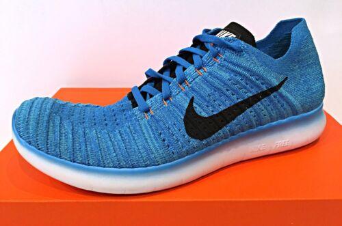 Herren 401 Free Weiß Sz Blau 831069 Rn Flyknit Laufschuhe Nike Photo YBPaPw