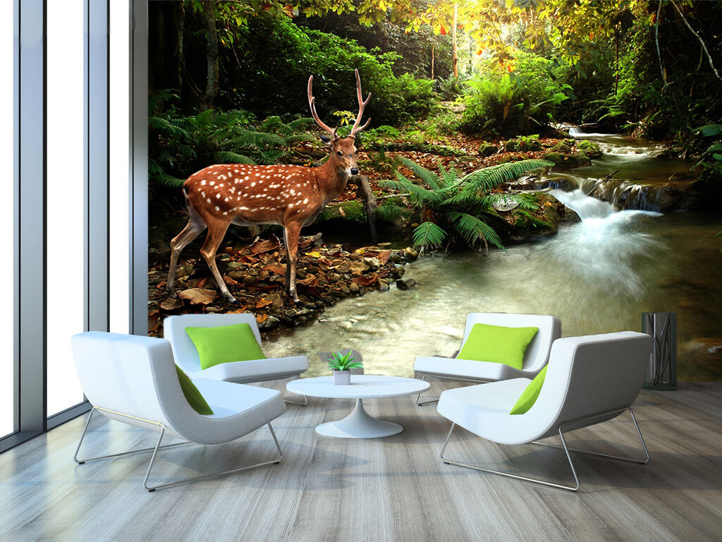 3D Sika Deer 1131 Wall Paper Wall Print Decal Wall Deco Indoor Wall