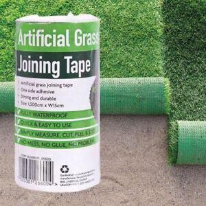 DéLicieux Gazon Artificiel Bande Autocollante Rejoindre Fixation Pour Joint Turf Tape L5m W15cm-afficher Le Titre D'origine
