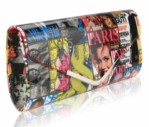 Ladies Women/'s Night Out Evening Classy Magzine Chic Prom Ball Clutch Purse bag