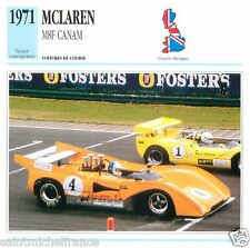MCLAREN M8F CANAM 1971 CAR VOITURE GREAT BRITAIN GRANDE BRETAGNE CARD FICHE