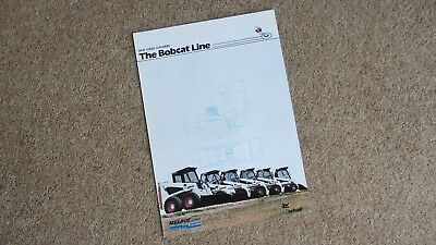Original The Bobcat Line Skic Steer Loaders Brochure B-1356/e/10m/03.89 Circa 1989 For Improving Blood Circulation Other Tractor Publications