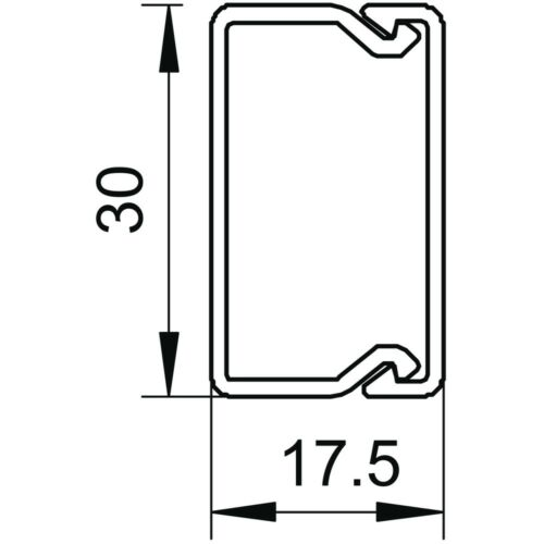 OBO Bettermann WDK15030GR WDK-Kabelkanal PVC steingrau 15x30x2000mm