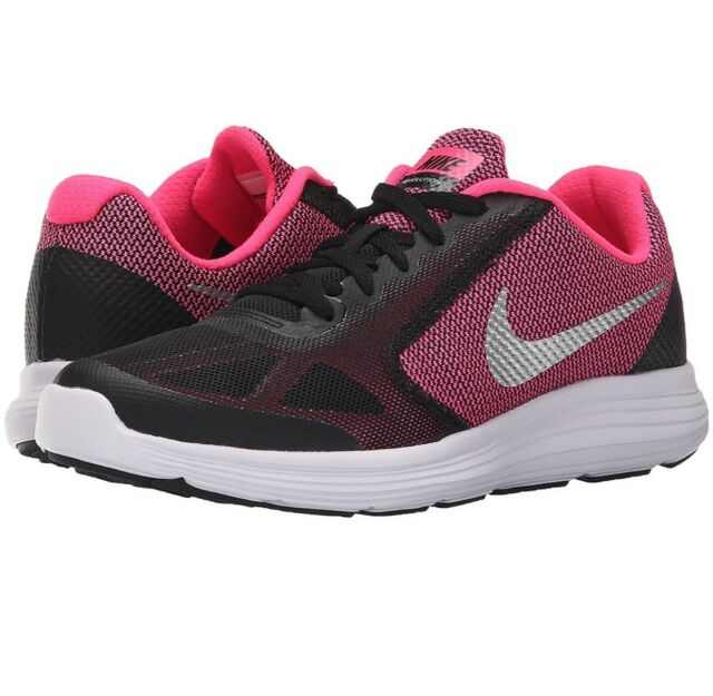 2ac611e88d0 Nike Revolution 3 GS Big Kids 819416-001 Black Pink Athletic Shoes ...