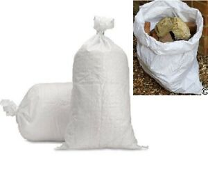 100 X WOVEN LARGE EXTRA HEAVY DUTY RUBBLE SAND BAG SACKS POLYPROPYLENE BUILDER