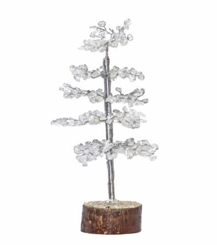 Healing Gemstone Tree Clear Quartz Crystal Bonsai Money Tree Vastu Table Gift